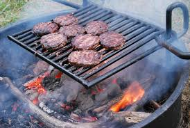 grilling outside