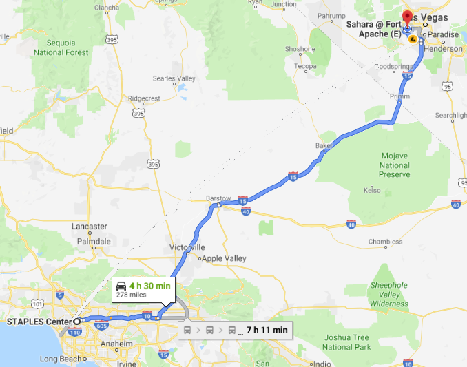 road trip path